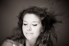 Free Hair On A Wind Royalty Free Stock Photo - 15439495