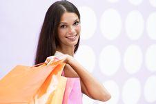 Free Beautiful Shopping Girl Stock Photo - 15439790