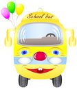 Free School Bus With Balloons Royalty Free Stock Photo - 15441595