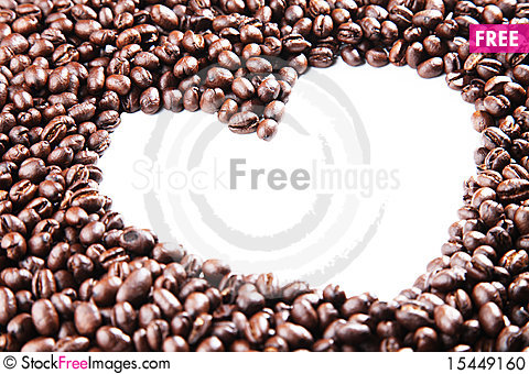 Free Coffee Beans Heart Outline Stock Photo - 15449160
