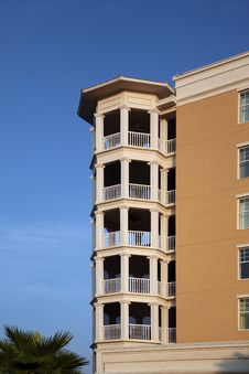 Free Condo Balconies Stacked Atop Each Other Stock Photos - 15440853