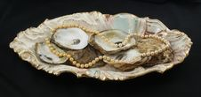 Pearls And Oyster Shells Royalty Free Stock Photo