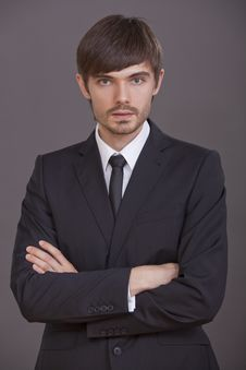 Portrait Of Young Businessman Royalty Free Stock Photography