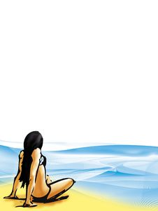 Free Beach-background Stock Image - 15441881