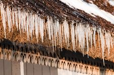 Free Icicles On A Roof Stock Image - 15441941