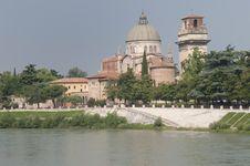 Ancient Building In Verona Stock Photo