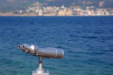 Binocular For Looking Over The Sea Stock Images
