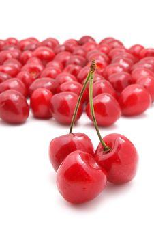 Free Group Of Sweet Cherries. Stock Image - 15442221