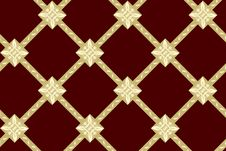 Free Seamless Vector Brown Texture With Rhombuses Stock Images - 15442324