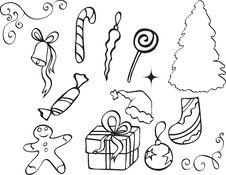 Free Christmas Icon Royalty Free Stock Photo - 15442685