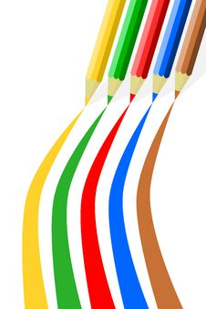 Free Colored Pencils Drawing Stock Image - 15442961