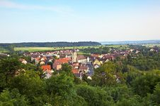 View To Romantic Village Of Shillingsfuerst Royalty Free Stock Photography