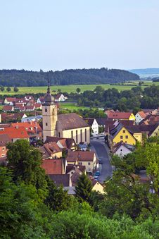 Free View To Romantic Village Of Shillingsfuerst On Royalty Free Stock Images - 15443199
