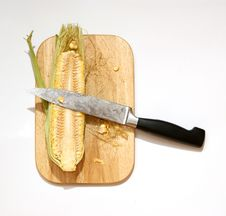 Free Still Life With A Natural Corn Cob Stock Image - 15443441