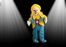 Free Figure Funny Little Clown Stock Images - 15443644