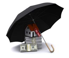 Free Little House With Umbrella Stock Images - 15444294
