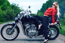 Free Sitting On A Motorcycle Stock Photos - 15444363
