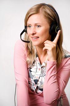 Free Women Talking With Headphones Royalty Free Stock Photo - 15444835