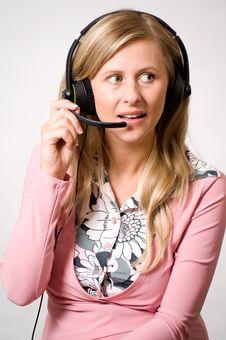 Free Women With Headphones Stock Photos - 15444863