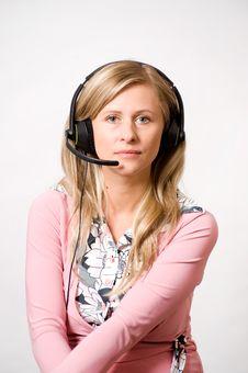Free Women With Headphones Stock Images - 15444934