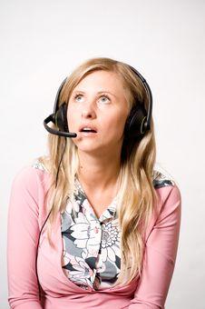 Free Women With Headphones Stock Photography - 15444982