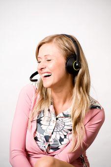 Free Women With Headphones Royalty Free Stock Photos - 15445038