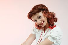 Free A Pretty Pin Up Girl Royalty Free Stock Image - 15446326