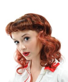 Free A Pretty Pin Up Girl Royalty Free Stock Image - 15446416