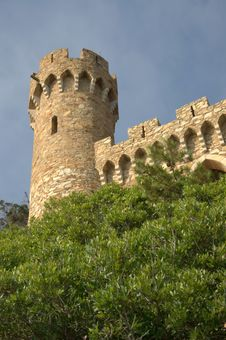 Free Castle In Lloret De Mar,costa Brava Stock Photography - 15446922