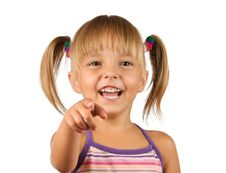 Free Funny Little Girl Royalty Free Stock Photos - 15447078