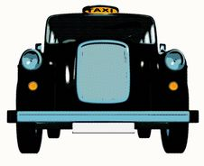 Free Traditional English Taxi / Cab Royalty Free Stock Photography - 15447307