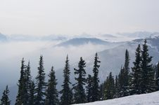 Free Mountain Range Haze In Winter, Jasper Stock Photo - 15448020