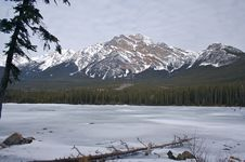 Pyramid Lake, Jasper Stock Images