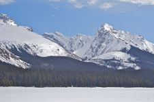 Free Frozen Lake And Mountain Stock Photography - 15448042