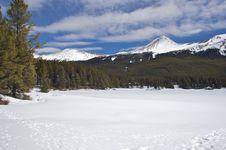 Free Snow Covered Lake Stock Photos - 15448043