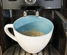 Espresso Machine With Cup Of Black Coffee Stock Photo