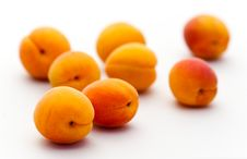 Free Ripe Apricots Isolated On White Backg Royalty Free Stock Photos - 15448938