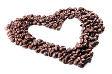 Free Coffee Beans In The Shape Of A Heart Royalty Free Stock Image - 15449176