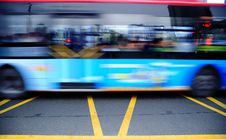 Free High Speed And Blurred Bus Trails Stock Image - 15449341
