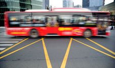 Free High Speed And Blurred Bus Royalty Free Stock Image - 15449356