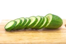 Free Green Cucumber With Slices Royalty Free Stock Photos - 15449518