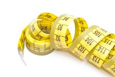 Free Curled Yellow Measuring Tape Stock Images - 15449644
