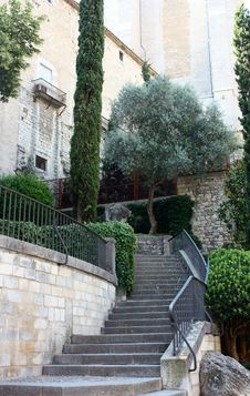 Free Stairway To Historic Building In Gerona, Spain Royalty Free Stock Image - 15449736