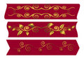 Free Red Banners With Swirls. Vector Illustration. Stock Photo - 15456260