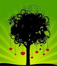 Free Tree With Red Hearts Royalty Free Stock Images - 15456869