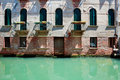 Free Facade Of Old Venetian House Standing In Water Royalty Free Stock Photography - 15458517