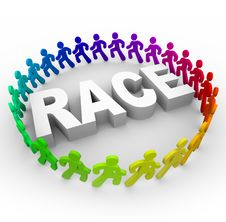 Free Race - Runners Around World Royalty Free Stock Photography - 15450067