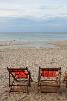 Free Beach Chair Royalty Free Stock Photography - 15451417