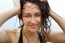 Free Close-up Of The Young Girl With Wet Hair Stock Photos - 15451543