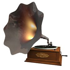 Free Gramophone Isolated Royalty Free Stock Photo - 15451965
